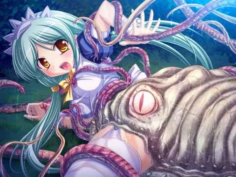 【エロ漫画】触手植物にズボォ!と丸呑みにされじわじわと消化され死に近付きながらも性的に絶頂する女の子の画像がやばすぎる・・・・・・ 15