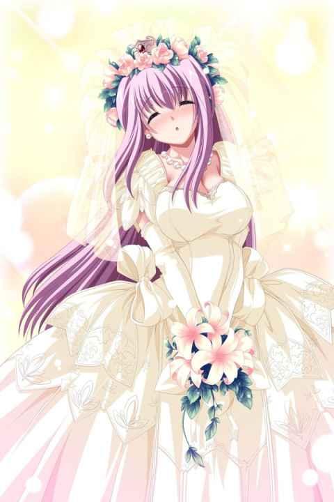 美しすぎるウェディングドレス姿の女の子と新婚えっちな萌えエロ画像集 part08 【6月の花嫁】