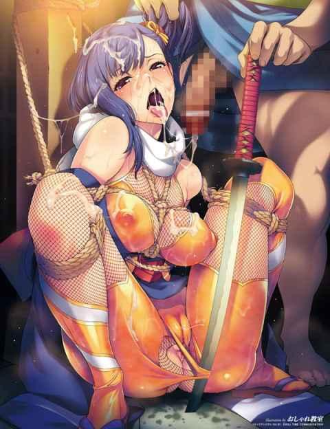 【エロ漫画】変身ヒロインや女騎士が敗北して触手やら豚やら有象無象に犯される定番の「くっ…殺せ!!」画像w part06