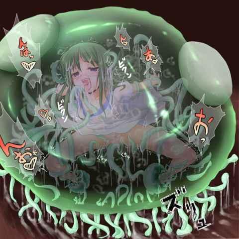 【エロ漫画】かわいい女の子が触手植物にゴックン丸呑みされ体を溶かされ養分に変えられやがて同化して行く一部始終がヤバい…… part03